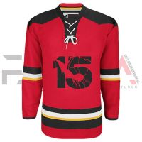 Red Black Ice Hockey Jersey