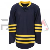 Yellow Black Ice Hockey Jersey
