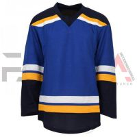 Blue Black Ice Hockey Jersey