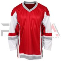 Red White Ice Hockey Jersey