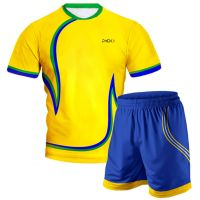 Yellow Blue Volleyball Uniform