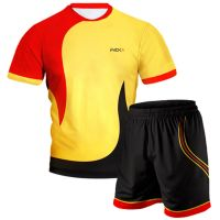 Yellow Red Volleyball Uniform