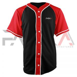 Baseball Jersey Red Black