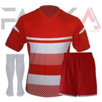 Red White Soccer Uniforms