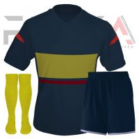 Blue Yellow Soccer Uniforms