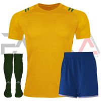 Yellow Blue Soccer Uniforms