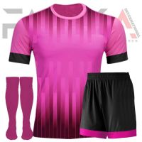 Pink Black Soccer Uniforms