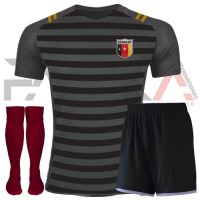 Grey Black Soccer Uniforms