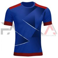 Blue Red Soccer Uniforms